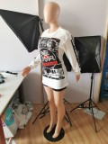 Sexy Style Printed Fashion Two Piece Set MUL-136-1