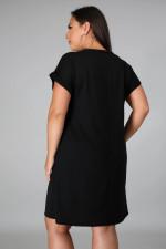 Plus Size 5XL Casual Printed Short Sleeve T Shirt Dress CYA-1251