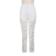Trendy Ripped Hole Long Jeans Pants HSF-2029