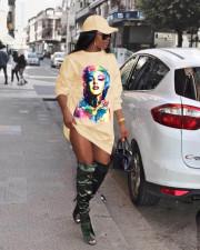 Print Fashion Casual Long Sleeve Sweatshirt Dress MYP-8938