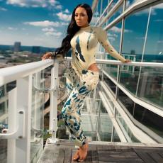 Fashion Casual Print Long Sleeve Bodysuits GLF-8036