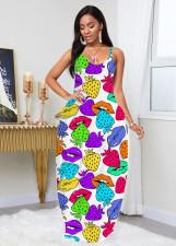 Sexy Printed Sleeveless Slip Maxi Dress LLF-8806