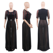 Sexy Chiffon See Through High Split Maxi Dress CYA-8701