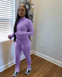 Casual Long Sleeve Split Pants Two Piece Sets LA-3225