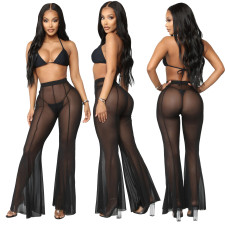 Sexy Mesh See Through Flared Pants SMR-9761