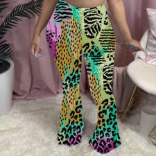 Fashion Casual Print Flare Pants MSF-8022