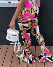 Casual Printed Skinny Flared Pants LSD-9015