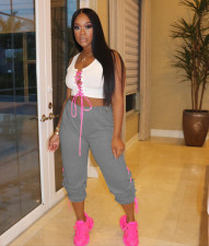 Casual Lace Up Long Sweatpants YUF-9046