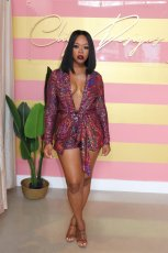 Sexy Sequin Blazer Coat And Shorts Two Piece Suits MOS-994-1