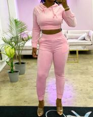 Casual Hoodies Long Pants Two Piece Sets YLF-8042