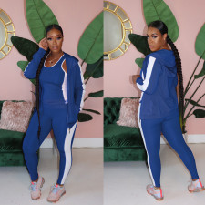 Fashion Casual Solid Color Sports Three Piece Set MOS-1122