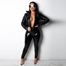 Sexy Bright PU Leather Skinny Pants GLF-8039