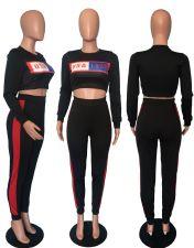 Casual Printed Long Sleeve 2 Piece Pants Set WSM-5199
