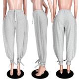 Solid Casual Loose Long Sweatpants ASL-6303