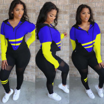Plus Size Casual Sports Hoodies Two Piece Pants Set MTY-6578