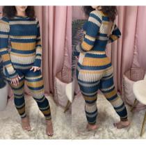Casual Printed Long Sleeve Jumpsuit TR-1072