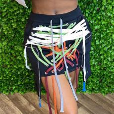 Trendy Lace Up Sexy Mini Skirts YNB-7127