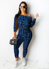 Fashion Leopard Print Long Sleeve Jumpsuit DSF-6043
