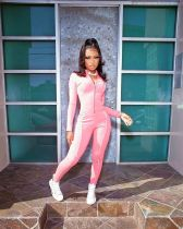 Casual Fitness Zipper Long Sleeve Jumpsuits OSM-4318