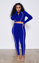 Casual Reflective Strip Long Sleeve 2 Piece Suits MA-385