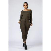 Casual Solid Long Sleeve One Piece Jumpsuits AWF-5817