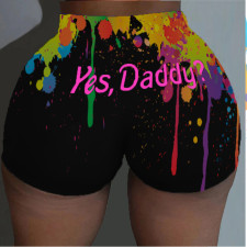 Plus Size 4XL Sexy Printed Bodycon Shorts SXF-0156