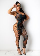 Sexy Printed Hollow Out Bandage Jumpsuits CYA-8757