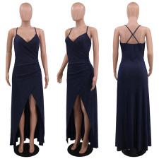 Sexy Split Backless Cross Strap Long Evening Dress CYA-8727