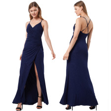 Sexy Split Backless Cross Strap Long Evening Dress CYA-8727