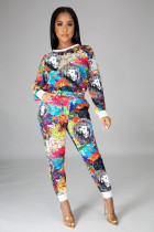Casual Printed Long Sleeve Two Piece Pants Set SFY-191