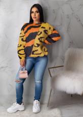Plus Size Casual Loose Printed O Neck Sweatshirt Tops ML-7387