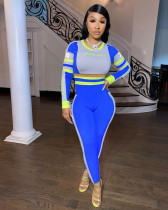 Fashion Casual Sports Letter Print Long Sleeve Two Piece Set TMF-5002