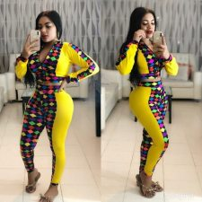 Casual Printed Patchwork Long Sleeve 2 Piece Sets MYP-8895