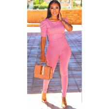 Sexy Slim Solid Color Two Piece Set LSF-9016