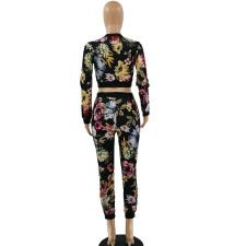 Printed Fashion Casual Long Sleeve Pants Two Piece Set LSF-9026