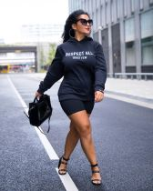Fashion Letter Print Casual Pullover Hoodie Sweatshirt XMF-024