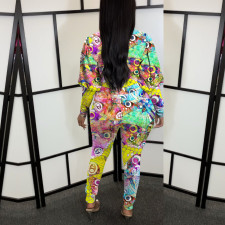 Casual Printed Long Sleeve One Piece Jumpsuit FENF-025