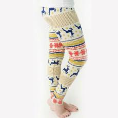 Christmas Snowflake Print Classic Leggings Pants TE-4109