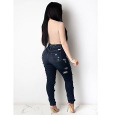 Fashion Ripped Hole Slim Jeans HSF-2353