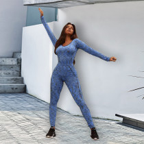Long Sleeve Sports Casual Slim Jumpsuit SZF-6057
