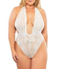 Sexy Halter Backless Mesh See Through Babydoll Underwear YQ-405