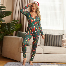 Tight Long Sleeve Christmas Jumpsuit OSIF-20881