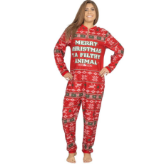 Christmas Printed Long Sleeve Jumpsuits SNF-5208