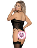 Sexy Underwear Patent Leather Erotic Lingerie (Without Stockings) YQ-8037