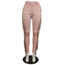 Plus Size Slim Sexy Tassel Casual Pants QYF-5023