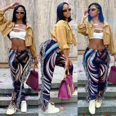 Casual Fashion Tassel Print Pants MIF-9020