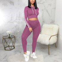 Casual Sports Hooded Long Sleeve 2 Piece Suits SMR-9893