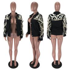 Trendy Long Sleeve Casual Short Jacket Coat YNB-7142