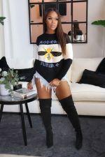 Casual O Neck Long Sleeve Sweatshirt Tops SFY-194