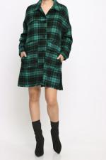 Casual Plaid Long Sleeve Shirt Dress MEM-8314